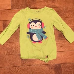 Long sleeve winter holiday t-shirt, 2T